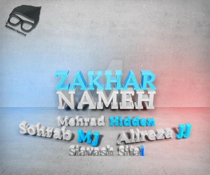 Zedbazi First Album Zakharnameh UnOfficial Poster by MehradCreative