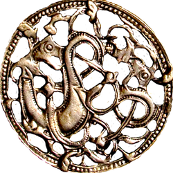 Ancient Nordic Viking Dragons jewelry element by LilipilySpirit