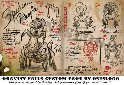 Gravity Falls Custom Page - Spider People, by Me! by Onislogo
