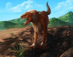 Mountainous Dread Dog by SchneeKatze09