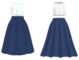 MMD Cute Top and Skirt DL by Arneth-Myndraavn