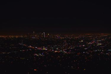 Los Angeles at night by jziani
