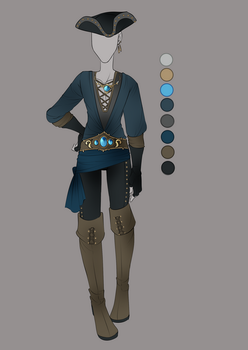:: July Commission 01: Outfit Design :: by VioletKy