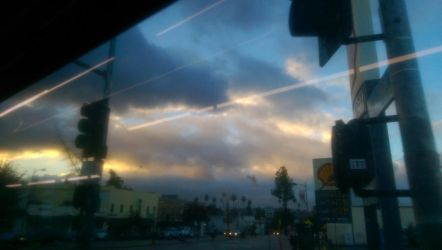 Storm Clouds from Bus window by LordPint