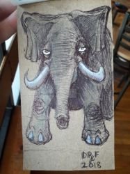 Another ballpoint work elephant by DoctorFantastic