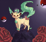 Fan Art Mashup Challenge - Leafeon by lyricalmime