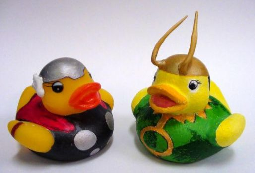 Thor Loki Duckies by HEROFive