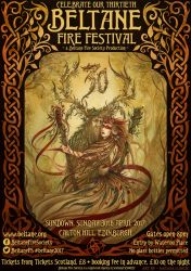 Beltane Fire Festival poster 2017 by NatasaIlincic
