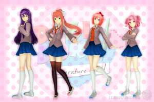 Doki Doki Literature Club 3D Models by SeriousNorbo