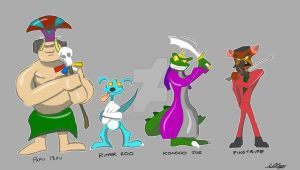 Crash Bandicoot Baddies by Adam-Clowery