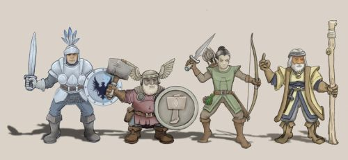 Dungeon Quest Characters by trybutfail