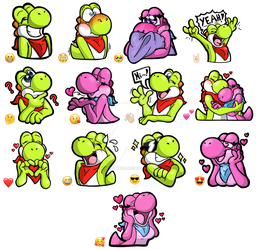 Limey and Pinky - Telegram Sticker Set by YoshiStar01