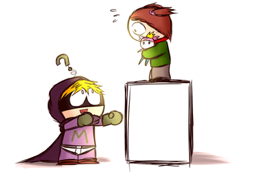 Mysterion and Karen by aq1218