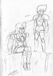 Sketchbook #21 - Alma and Shura by GueparddeFeu