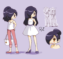 Rei Character Sketches by YamPuff
