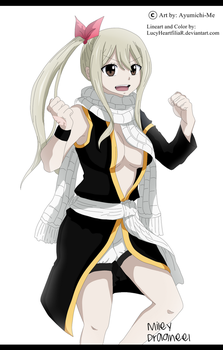 Lucy Heartfilia with Natsu clothes by Ayumichi-me by LucyHeartfiliaR