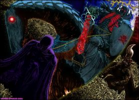 FEMTO VS SKULL KNIGHT by kallerNSG