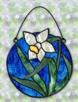 Stained Glass Daffodil by Christi-Dove