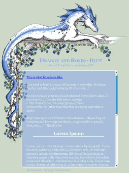 CSS Dragon and Roses - Blue