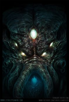 Lethality Cthulhu Head by TentaclesandTeeth