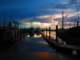 The Blue And Gold Boat Ramp by wolfwings1