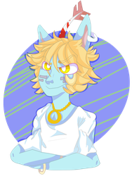 Blue boy ( COMMISSION ) by JinxTheBlissfulBunny