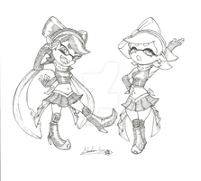 Prototypes Callie and Marie sketch