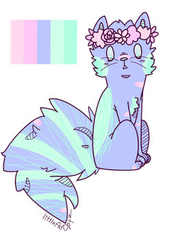 Space cat adopt CLOSED by Blubaka