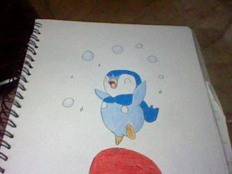 Bouncing Piplup by Sins-Marionette
