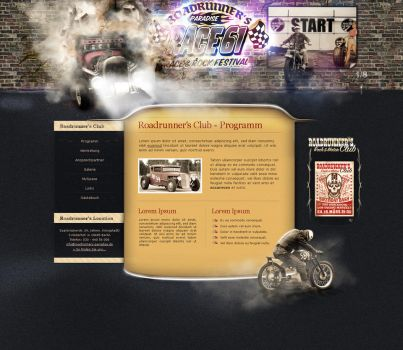 Rockabilly Website by medienvirus