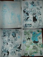Old! Underfell/Undertale Sketchdump by The-real-Vega777