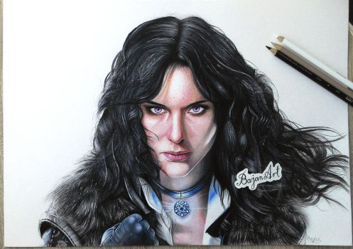 The Witcher 3: Wild Hunt Yennefer portrait by Bajan-Art