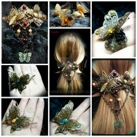 Butterfly jewelry collage by Cyanida