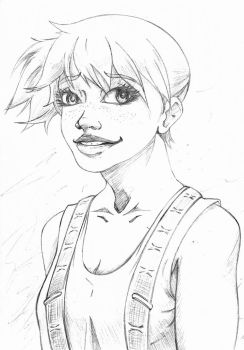 Daily 20 min Sketch Misty by Comic-Engine-Alex