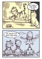 Cat Toons - ATCs by spiraln