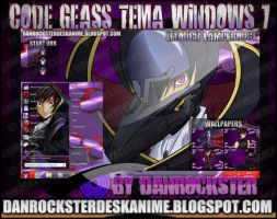 Lelouch Lamperouge Theme Windows 7 by Danrockster