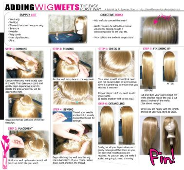 TUTORIAL: Adding Wefts to Wigs by Stealthos-Aurion