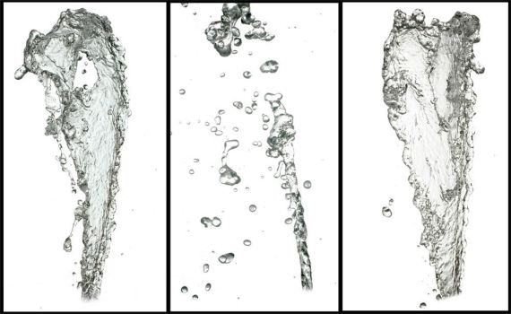 Water Splashes High Res PNG by opendimension