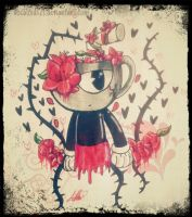 .CUPHEAD: flowered cup. by vocaloid121