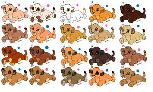 A bunch of adoptable lion babies CLOSED by BlossomPanda
