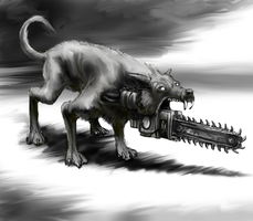 Chainsaw Dog by Crowsrock