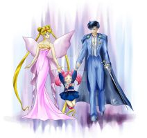 Neo-Queen Serenity and King Endymion's family by Wyn83