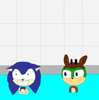 Hedgehogs Can't Stand Water! by MercenaryMaster