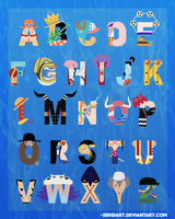 One Piece Alphabet by SergiART