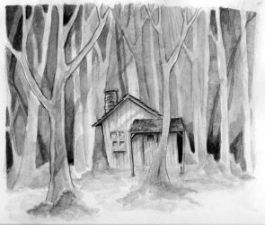 House in the Woods by bms-DA