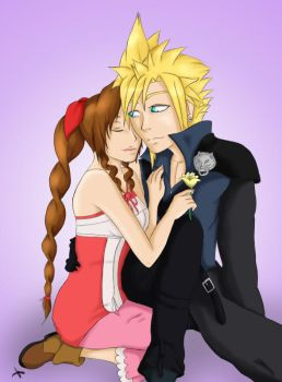 Request: Cloud and Aerith by MissMinority
