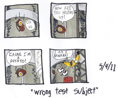 Wrong Test Subject by The-One-Free-Man82