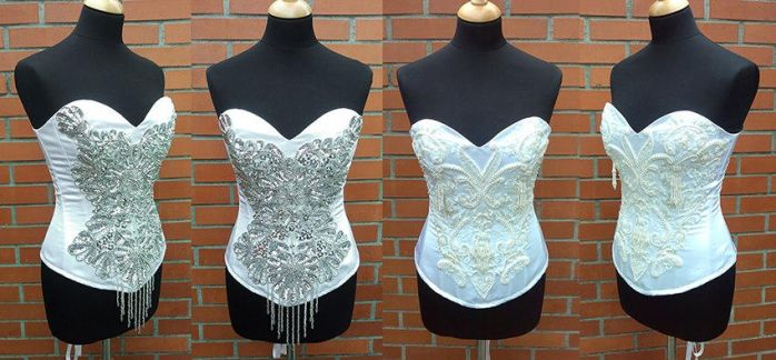 Wedding corsets by azdaja