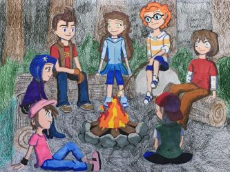 Hanging Around the Campfire by madiquin185