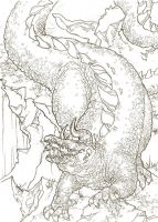 Glaurung lineart by Toradh